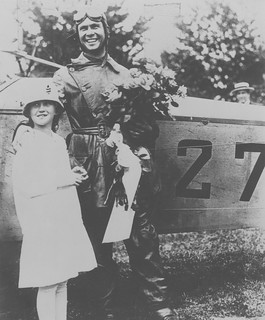 Photograph of airmail pilot Lt. James Edgerton and sister | by Smithsonian Institution