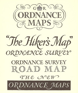Examples of lettering styles by Ellis Martin, Ordnance Survey artist and map cover designer, c1930 | by mikeyashworth