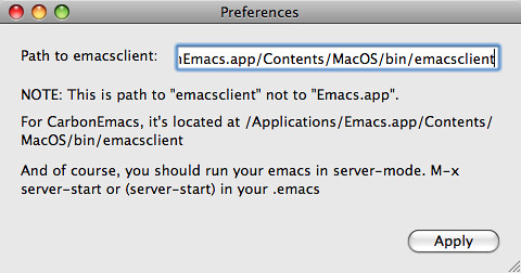 EmacsHandler Preferences | by typester