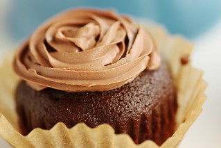 kahlua cupcakes with chocolate mousse frosting | by Stacy Spensley