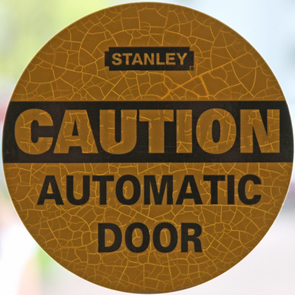 Caution Automatic Door Lincoln Home Springfield