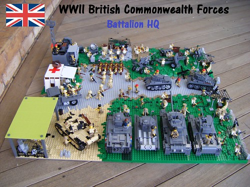 WWII British Battalion HQ (Left side view) | by Lego Major