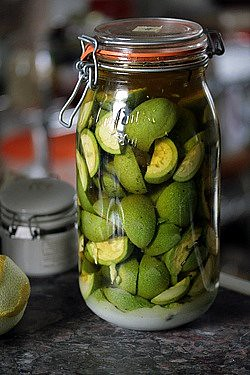 macerating green walnuts | by David Lebovitz