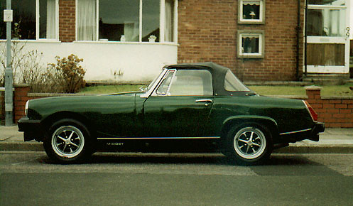 mg midget 1500 1979 restoration this is the car just. Black Bedroom Furniture Sets. Home Design Ideas