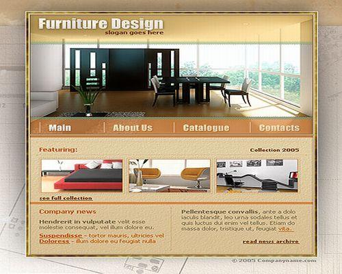 Free Flash Template Furniture Company