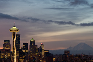 Space Needle and Rainier | by James Goldsmith7041