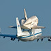 NASA 747 shuttle carrier departing JRB NFW