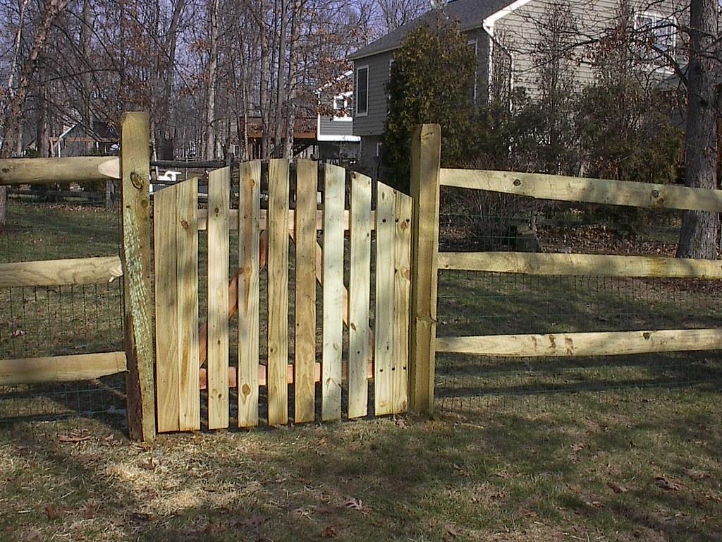 Arched Picket Gate On Split Rail Fence Cedarbrook