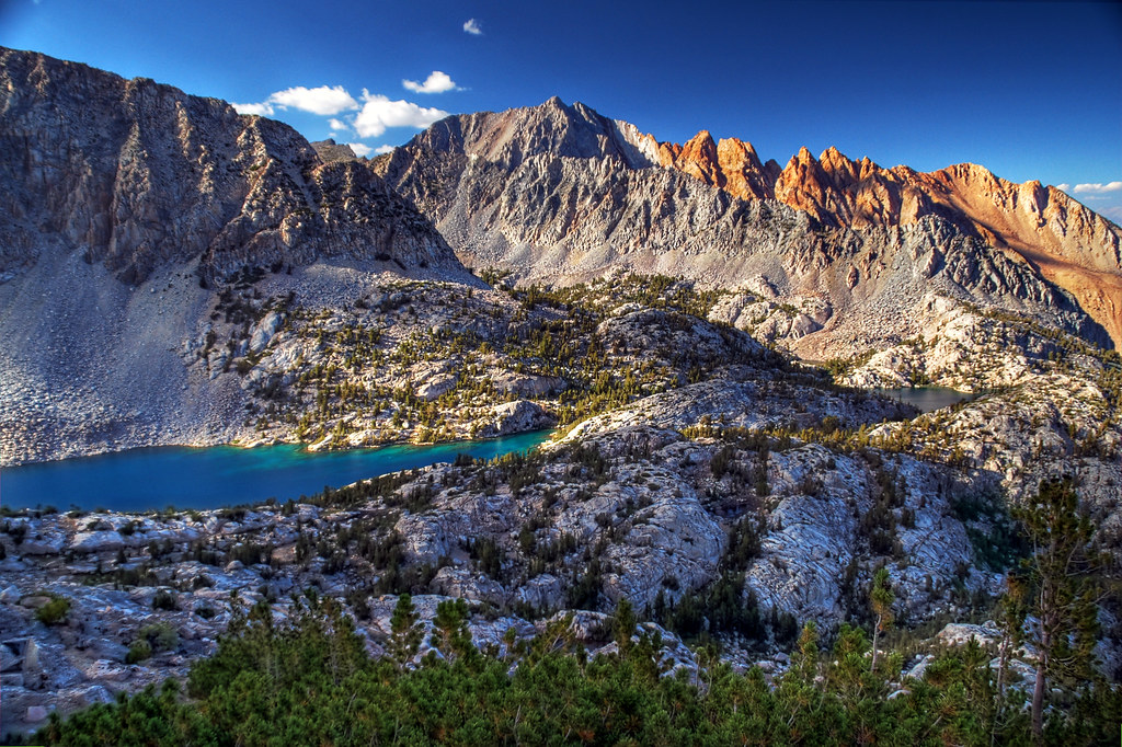 Upper Lamarck Lake and Piute Crags from Lamarck Col trail Flickr