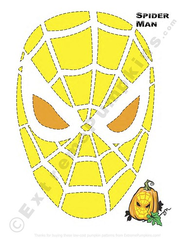 Spiderman Pumpkin Pattern Pumpkin Carving Pattern Spider Flickr