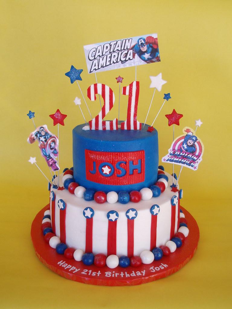 Captain America Birthday Cake Josh Is One Serious Comic Bo Flickr
