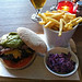 Guacomole Burger at Red Lips Bar in Edinburgh