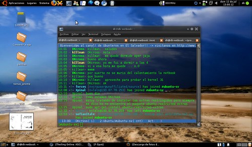 con irc ubuntu