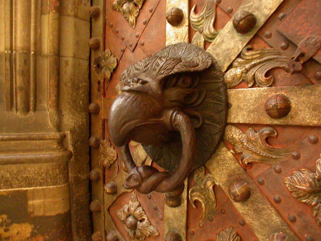 ... Eagle door knocker on chapel in St Vitus Cathedral Prague | by Kevglobal & Eagle door knocker on chapel in St Vitus Cathedral Prague | Flickr