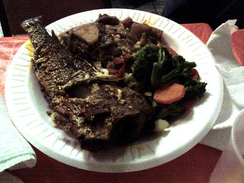 Grilled fish, boiled vegetables, rice and peas | Kara Van ...