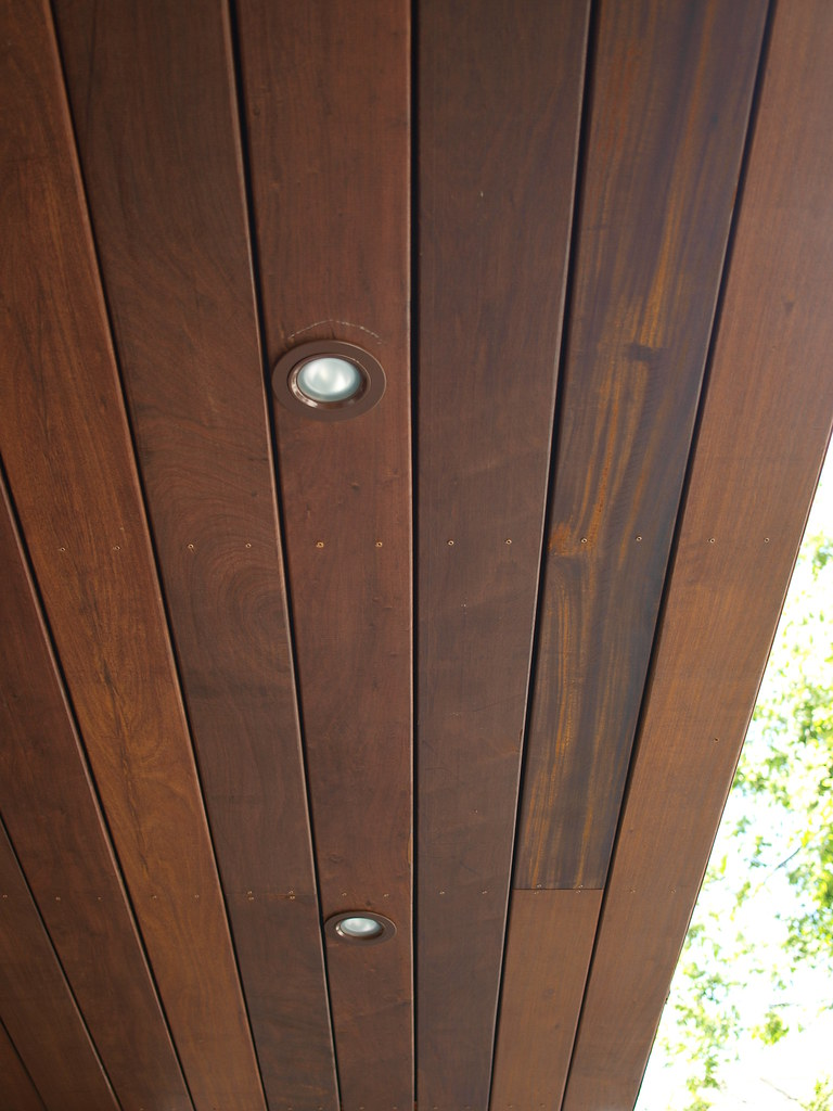 Wood Soffit Saw A Nice Wood Soffit The Other Day
