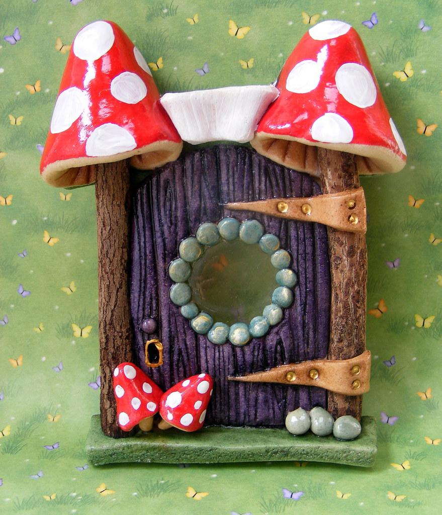 Fairy door toadstool fairy door have a look at my misi for White fairy door