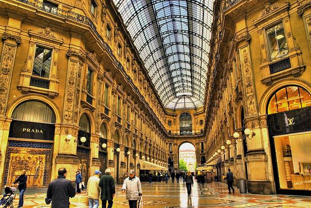 Einkaufsmeile in Mailand
