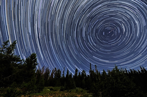 Perseid Meteors Penetrating Circumpolar Star Trails | by Fort Photo