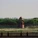 Across from the Taj Mahal