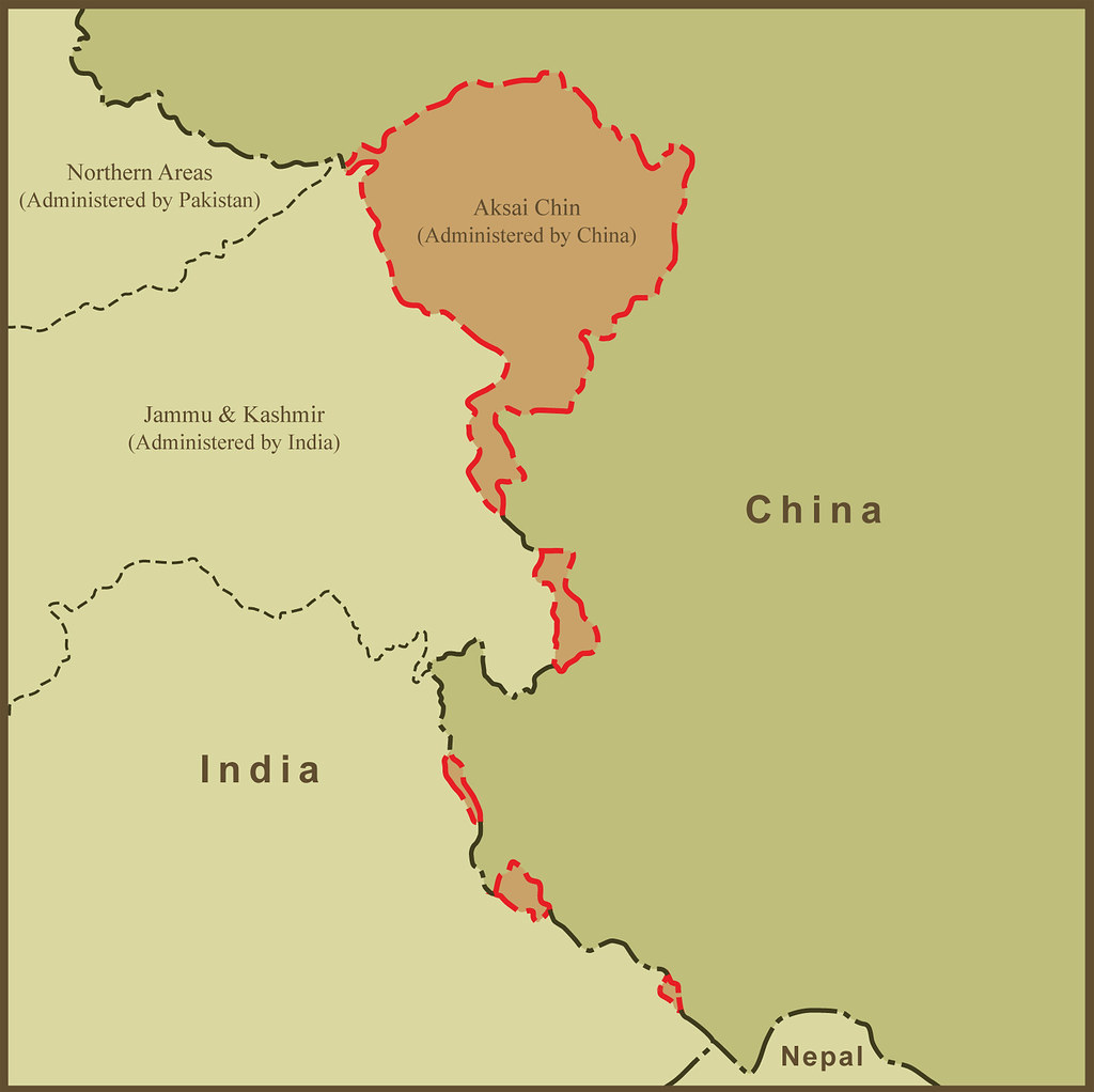 A map of aksai chin and the border dispute between china a flickr a map of aksai chin and the border dispute between china and india by amproehl gumiabroncs Image collections