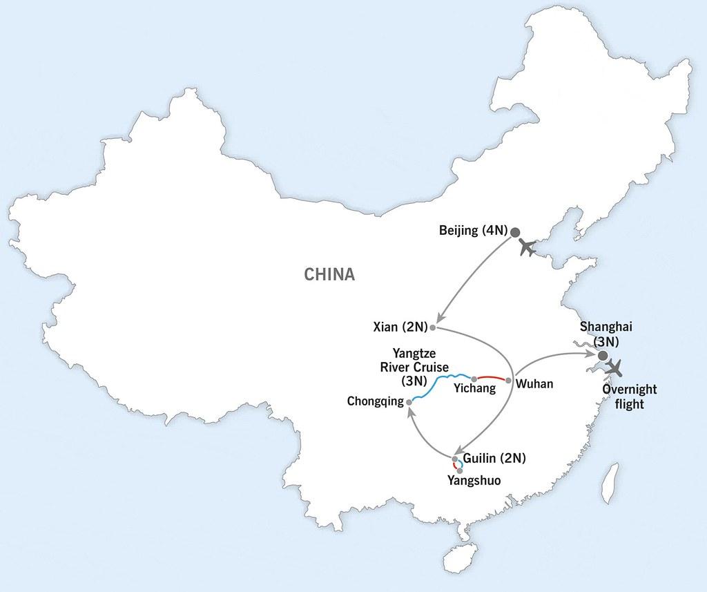 中国旅游路线图