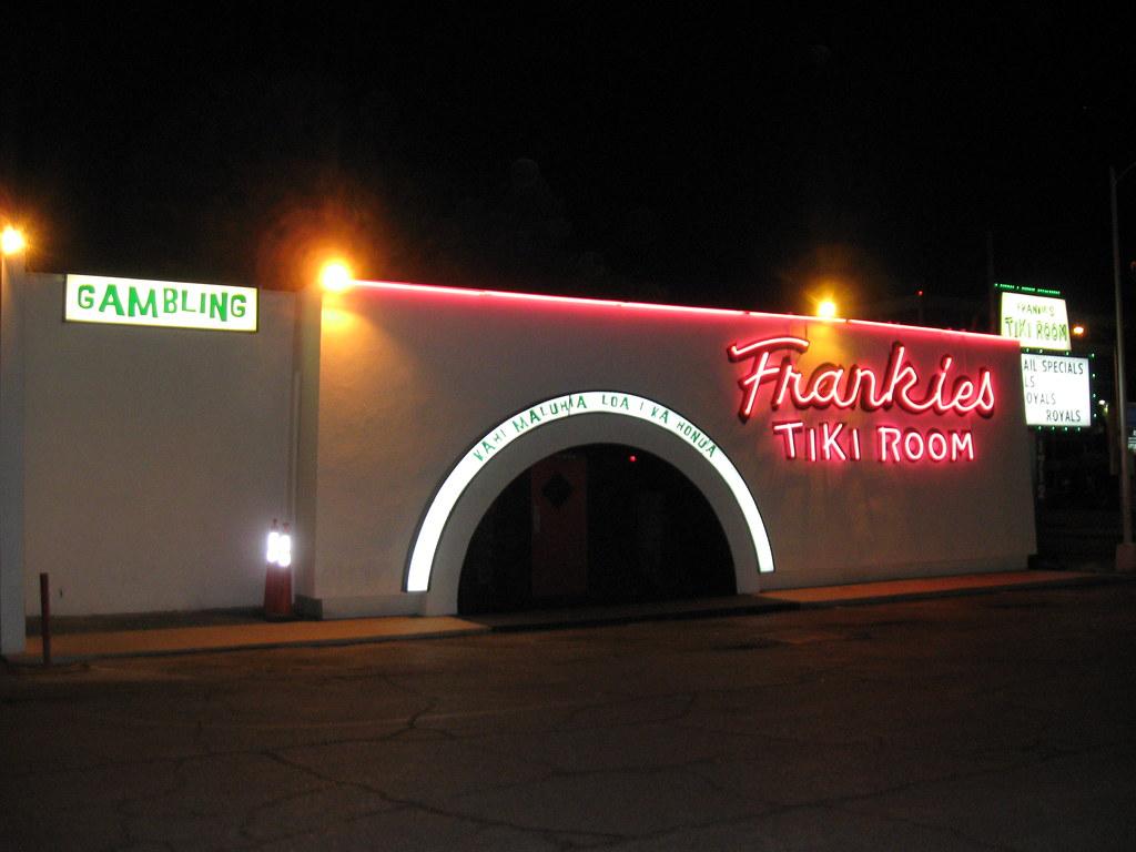 Frankie S Tiki Room Sign