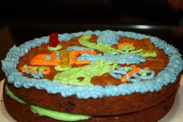 Double Layer Cake Recipe In Hindi