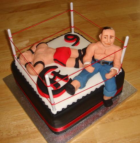 Wrestling Birthday Cake