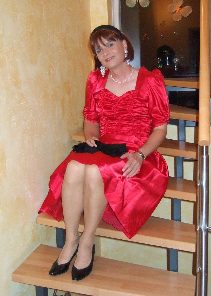 Red Dress3  Me In The Beautiful Red Satin Dress I Got -3614