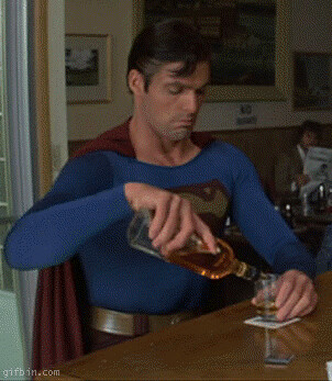 Superman Drinking Whiskey | Flickr - Photo Sharing!