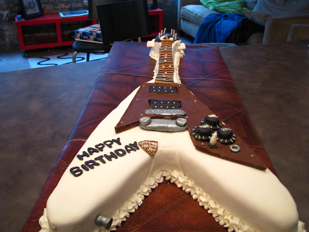 Flying V Cake This cake was made for my friend Micah guit Flickr