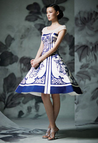 Blue And White Porcelain Themed Wedding Dress Www