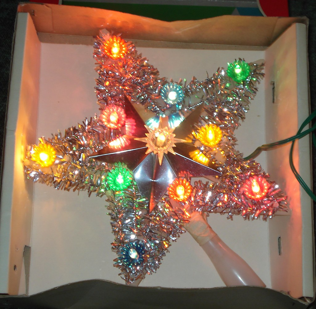 Lighted Christmas Tree Star Topper