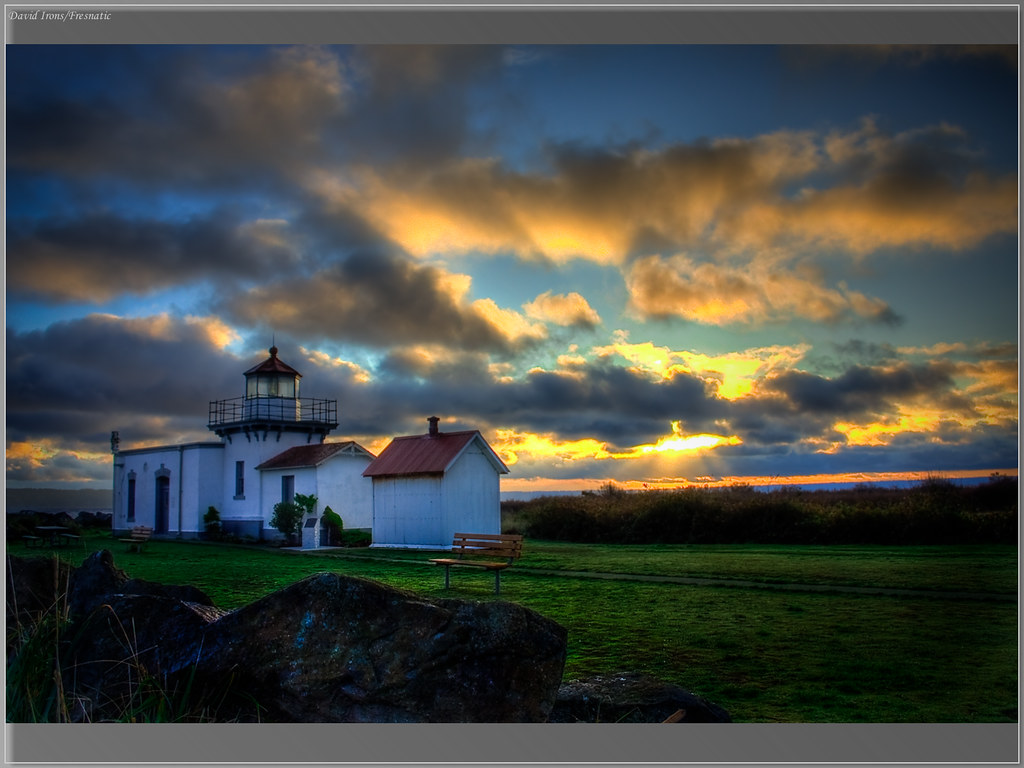 Sunrise At Point No Point Lighthouse Hdr Point No Point