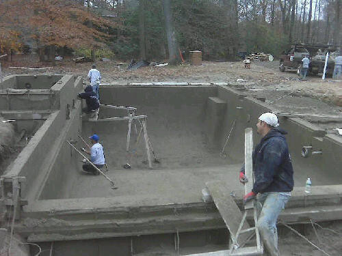 Gunite swimming pool construction in saddle river nj flickr for Swimming pool construction company