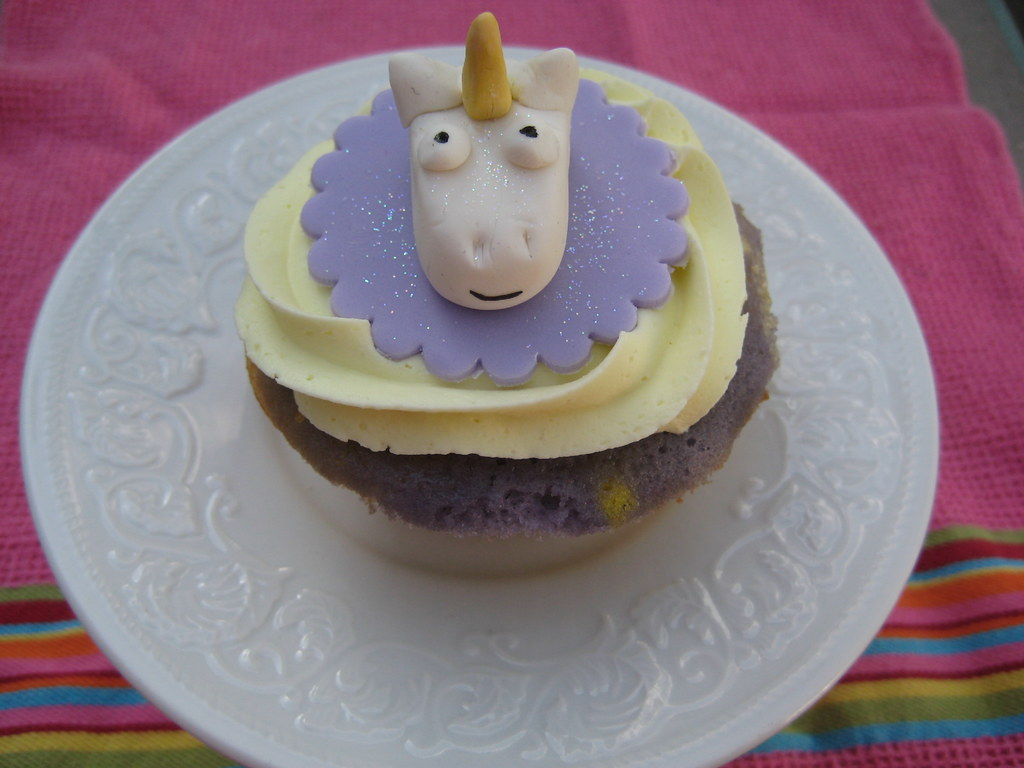 Unicorn Cupcakes Groovy Cupcake With Cotton Candy