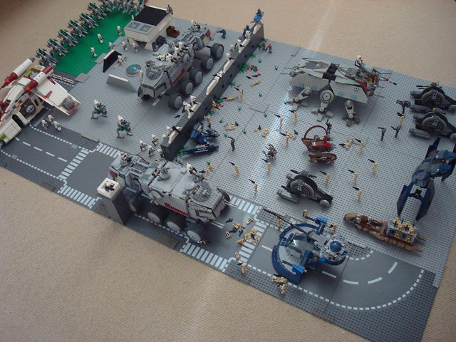 My new lego star wars clone base