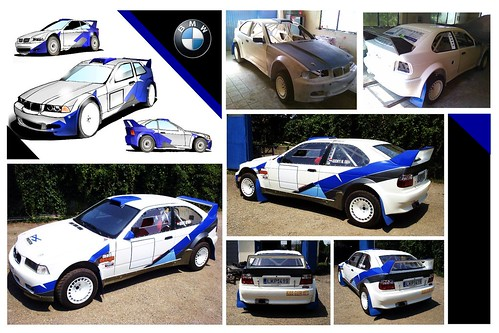 Bmw e36 f2000 rally car custom paint design watch it for Car paint designs pictures