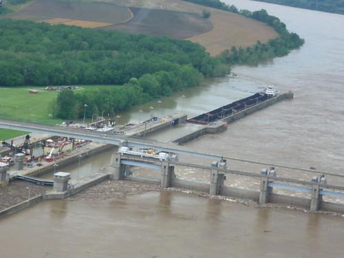 Markland Dam Flooding Ohio River Markland Dam