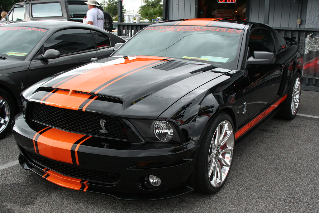 Black Orange Mustang Cobra Gt500 Charlie J Flickr