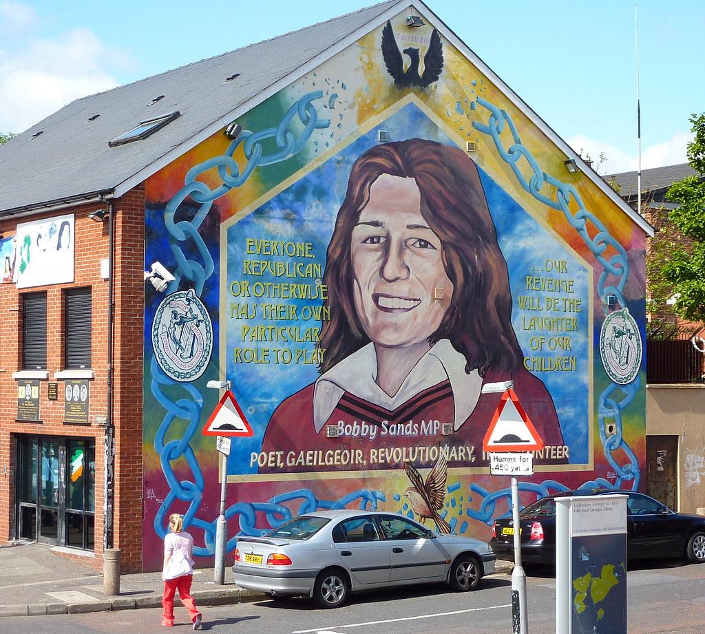 Mural belfast mural bobby sands falls road belfast for Bobby sands mural falls road