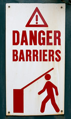Danger Barriers, by A.Barclay on Flickr