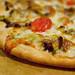 leek and lamb pizza