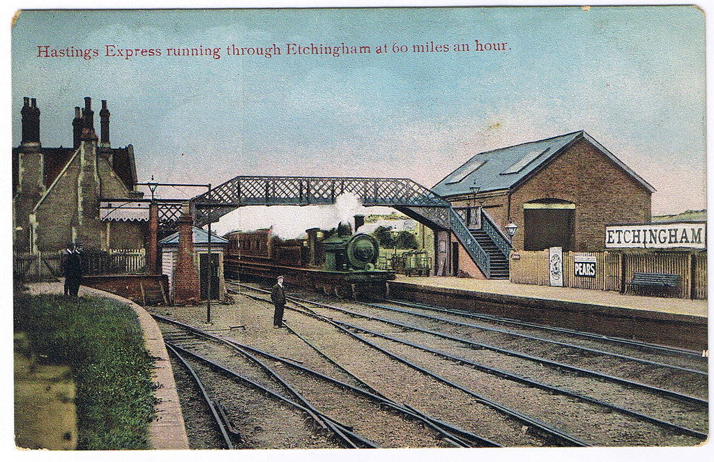 Etchingham Station East Sussex An Early 1900 S Postcard