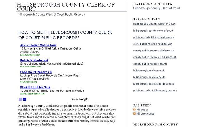 Hillsborough County Clerk Of Court