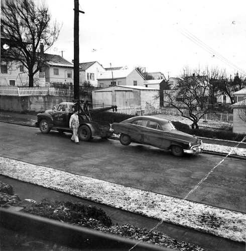 Car being towed, 1955 | by Seattle Municipal Archives
