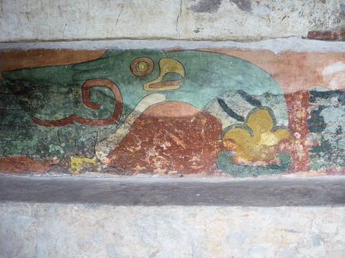 Templo de quetzalcoatl bird mural gordon bell flickr for Mural quetzalcoatl