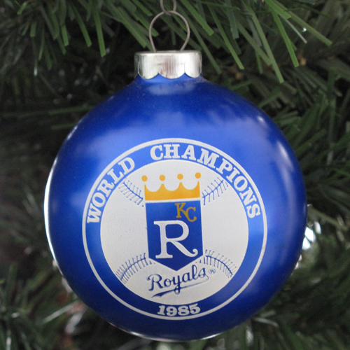 kc royals 1985 christmas tree ornament by doane paper - Royals Christmas Ornament