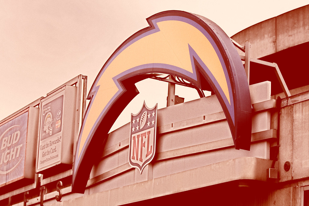 San Diego Chargers In The Theme Of 50th Anniversary